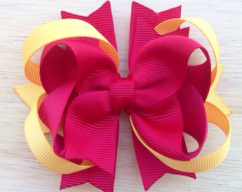 Boutique hair bow - Choose your colors - hair bows for girls, school bows, hair bows, girls bows, baby bows, bows, toddler hair bows