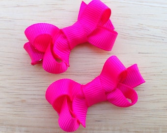 YOU PICK color pigtail bows -  hair bows, baby bows, hair clips, baby hair clips, hair clips for girls, baby girl bows, girls hair bows