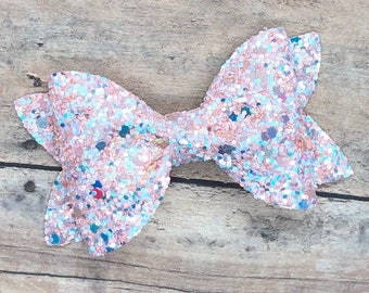 Glitter hair bow - glitter bow, hair bows, baby bows, girls hair bows, toddler bows, hair clips
