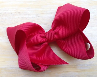 Dark red hair bow - hair bows, bows for girls, baby bows, girls hair bows, toddler hair bows, boutique bows