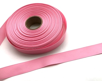 5 yards 7/8 inch pink grosgrain ribbon - pink ribbon, hair bows, craft supplies