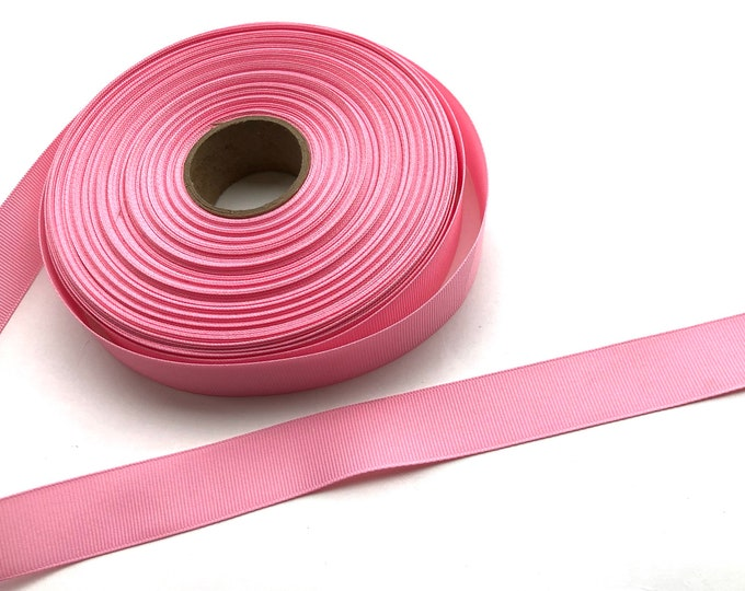 5 yards 7/8 inch pink grosgrain ribbon - pink ribbon, hair bows, craft supplies