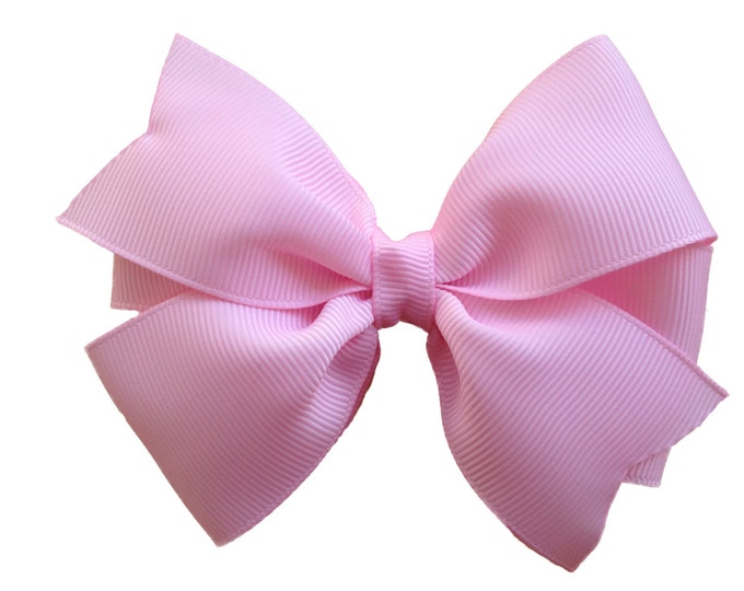 Light pink hair bow - hair bow, hair bows, hair bows for girls, girls hair bows, toddler hair bows, baby bows, girls bows, big hair bows