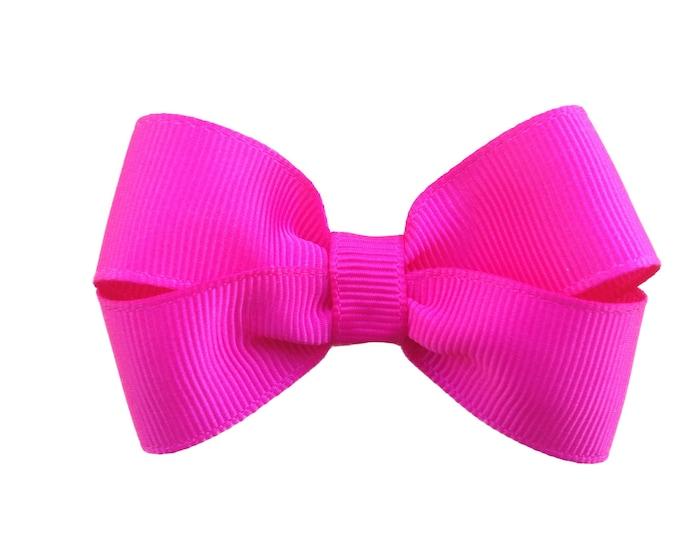 Hot pink hair bow - hair bows, bows, hair bows for girls, baby bows, baby hair bows, hair clips, toddler bows, pigtail bows