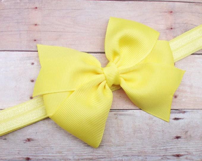 Baby headband - baby headband bows, baby girl headbands, baby bows, newborn headbands, hair bows, big bow headband