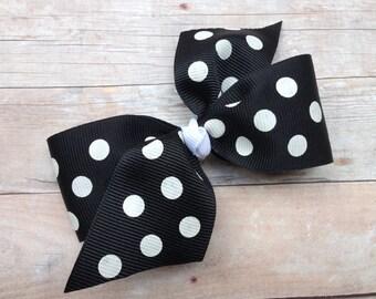 Black hair bow - hair bows, bows for girls, toddler hair bows, baby hair bows, 4 inch hair bows