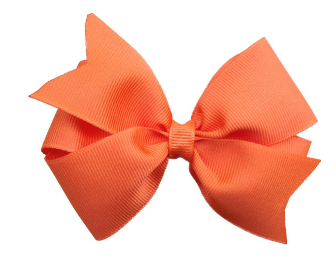 Orange hair bow - hair bows, bows for girls, girls hair bows, toddler hair bows, baby bows, big hair bows, hairbows