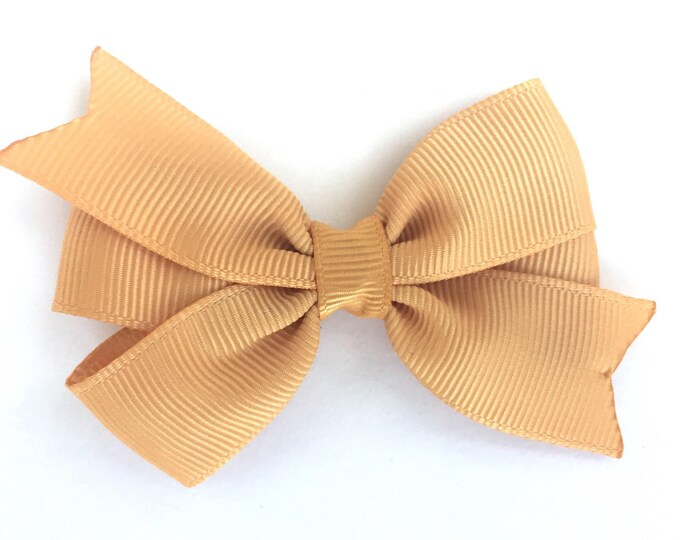 Gold hair bow, hair bows, bows, hair bows for girls, baby bows, pigtail bows, baby hair bows, toddler bows, girls bows, hairbows, hair clips