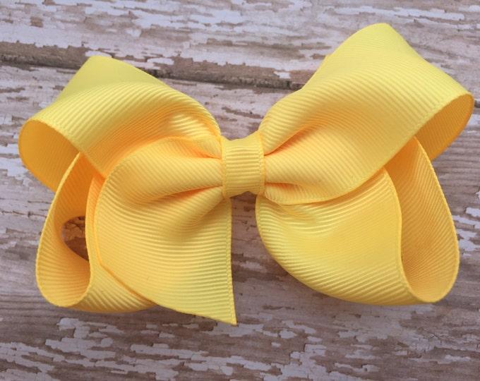 Buttercream hair bow - hair bows for girls, toddler bows, 4 inch hair bows, big hair bows