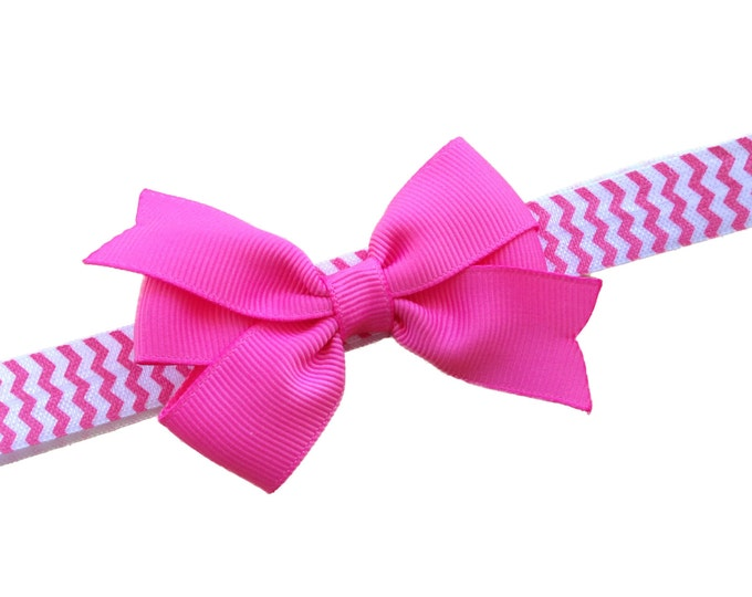Pink baby headband - baby headband bows, newborn headband, baby girl headband, headbands baby girl, baby bows