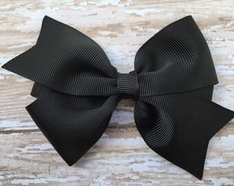 Black hair bow - hair bow, hair bows for girls, hair bows, toddler bows, baby bows, girls bows, girls hair bows, hair clips, big hair bows