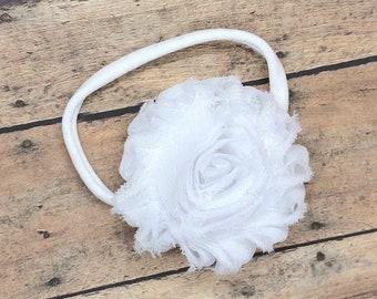 Baby headband - nylon headband, flower headbands, baby girl headband, newborn headband, baby bows, baby bow headband
