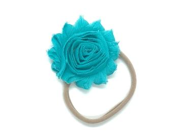 Baby headband - nylon headband, flower headbands, baby girl headband, newborn headband, baby bows
