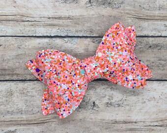 Glitter bow - baby headband, hair bows, baby headband bows, baby bows, baby hair bows, hair clips, girls bows