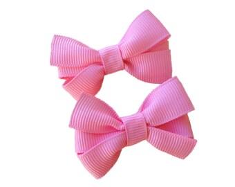 YOU PICK pigtail bows - hair bows, baby bows, girls bows, pigtail bows, small bows, pinwheel bows, toddler bows