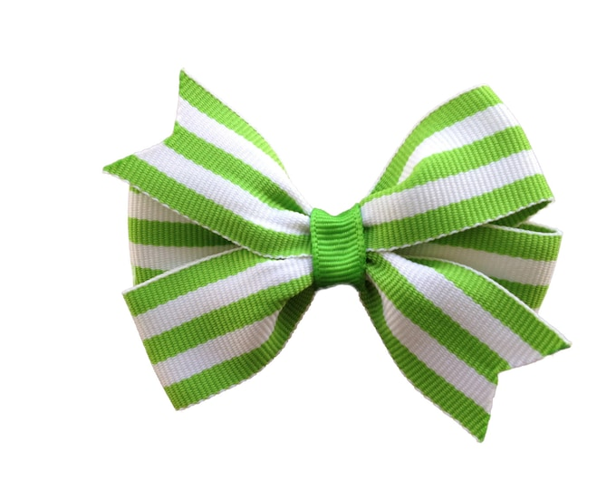 Lime green hair bow, hair bows, bows, hair bows for girls, baby bows, hair clips, baby hair bows, pigtail bows, toddler hair bows, hairbows