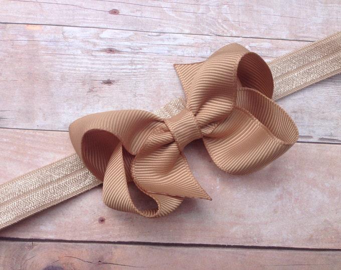 Baby headband - baby girl headband, baby headband bows, newborn headband, baby bows, baby bow headband