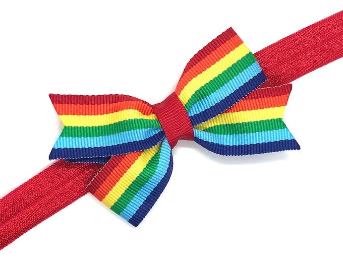 Rainbow baby headband - baby headbands, bow headbands, newborn headbands, baby headband, baby bow headband, baby girl headband