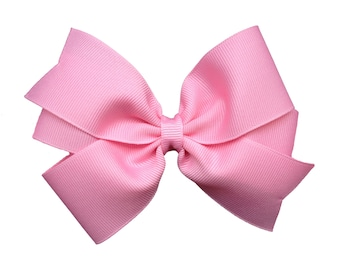 SET of 3 Hair bows - 5 inch hair bows, bows for girls, hair clips, baby bows, toddler hair bows, girls hair bows, hairbows