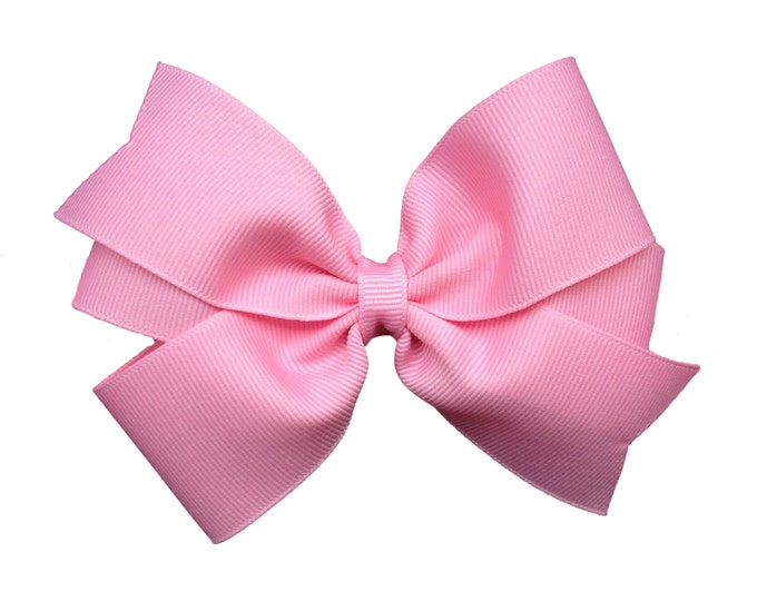 YOU PICK color hair bow - 5 inch hair bows, girls bows, hair bows for girls, toddler hair bows, big hair bows