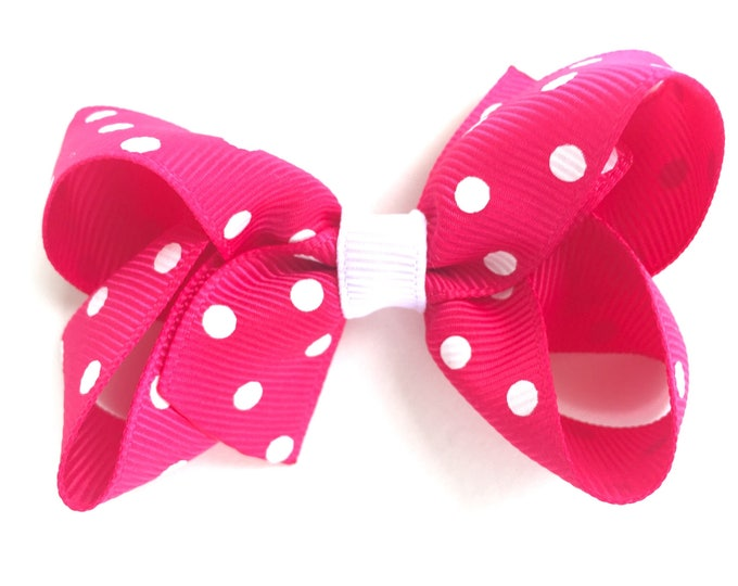 Hot pink hair bow - hair bows, bows, hair bows for girls, toddler hair bows, girls hair bows, baby bows, pigtail bows, hair clips, hairbows