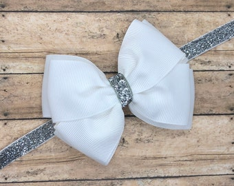 YOU PICK color baby headband - baby headband bows, baby bows, baby headbands, newborn headbands, baby girl headbands, baby bow headbands