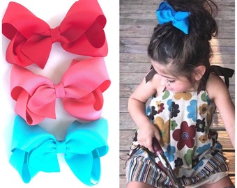 Hair bows for girls - 4 inch hair bows, toddler hair bows, girls hair bows, boutique hair bows, big bows