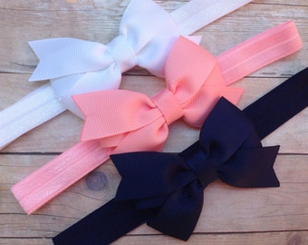 YOU PICK 3 baby headbands -  bow headbands, baby headband bows, newborn headband, baby bow headband, baby girl headband, baby bow, baby girl