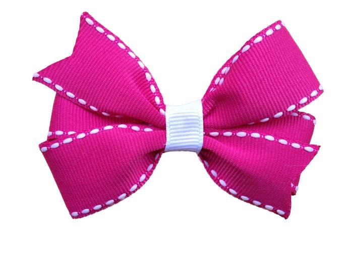 Pink hair bow - hair bows, bows, hair clips, hair bows for girls, baby bows, baby hair bows, girls bows, toddler hair bows, hairbows