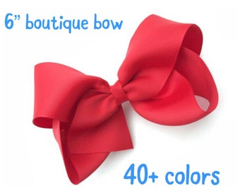Large 6 inch hair bow - 6 inch bows, cheer bow, big bow, large hair bows, girls hair bows, toddler bows, girls bows, hair bows
