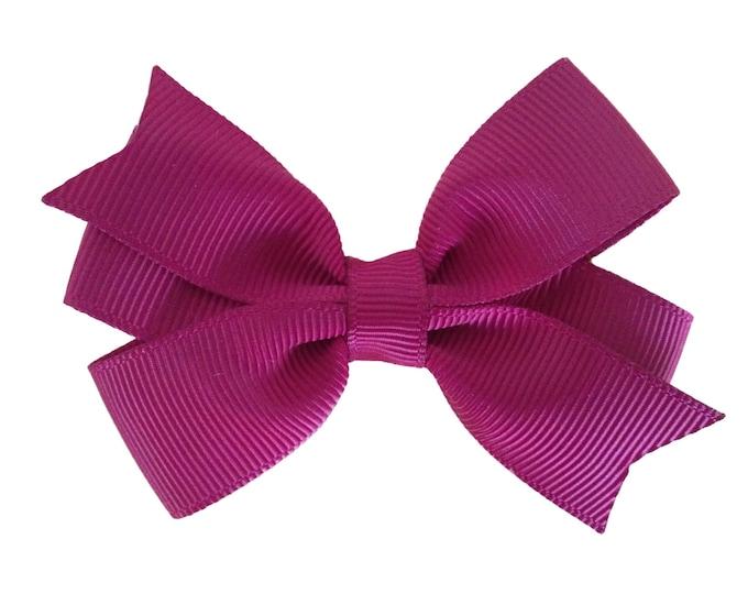 Burgundy hair bow - hair bows, bows for girls, baby bows, pigtail bows, baby hair bows, girls hair bows, toddler