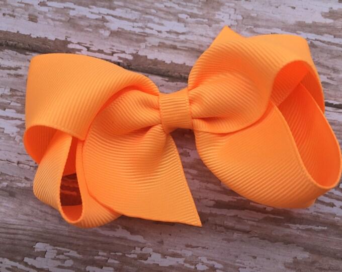 Girls hair bow - hair bows for girls, toddler hair bows, boutique bows, 4 inch hair bows, big bows
