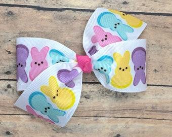 Easter hair bow - hair bows for girls, toddler hair bows, baby bows, girls bows, 4 inch hair bows, big bows