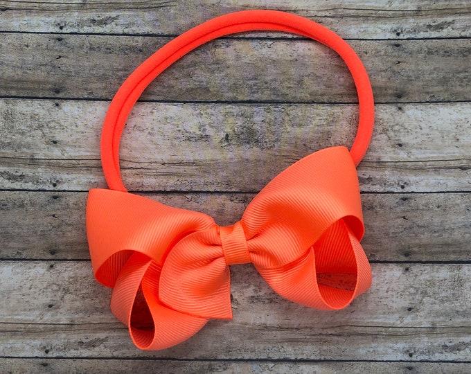 Baby headband - baby headband bows, baby bows, nylon headbands, newborn headbands, baby girl headbands, hair bows