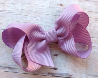 Lavender bow - hair bows, bows for girls, baby bows, toddler hair bows, boutique bows, pigtail bows, girls bows