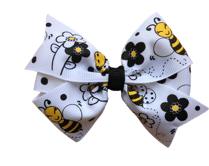 Bumble bee hair bow - hair bows, bows for girls, baby bows, girls hair bows, hairbows, toddler hair bow, baby girl
