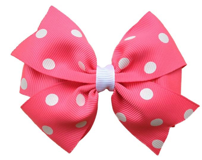 Pink hair bow - hair bows, girls bows, baby bows, pigtail bows, toddler hair bows, big hair bows