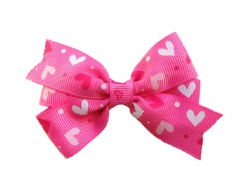 Valentine's Day hair bow - hair bows, baby bows, toddler bows, girls bows, girls hair bows, 3 inch hair bows, pink bows