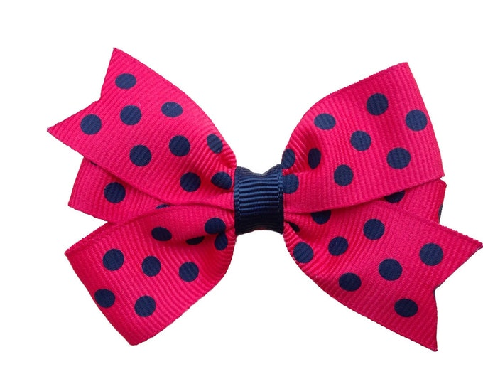 Red & black hair bow - hair bows for girls, baby bows, toddler hair bows, 3 inch hair bows, pinwheel bows