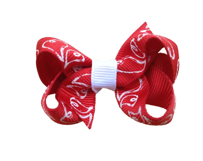 Valentine's Day hair bow - hair bows, baby bows, girls bows, toddler bows, boutique bows, small bows