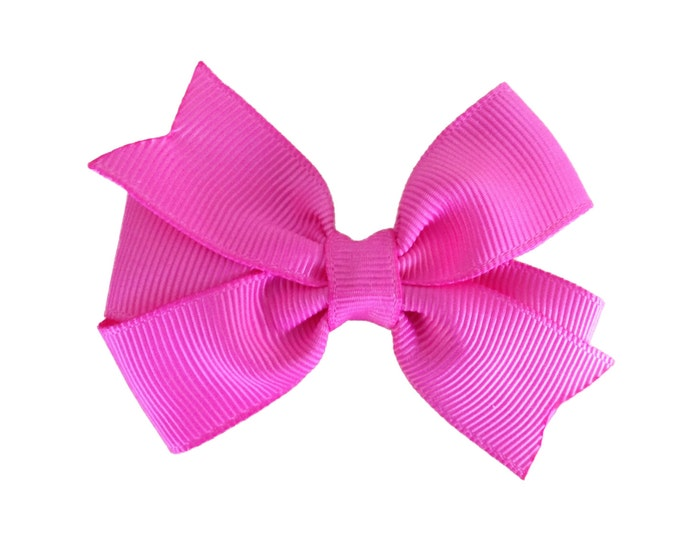 Pink hair bow - hair bows, bows for girls, baby hair bows, toddler hair bows, pigtail bows, 3 inch hair bows
