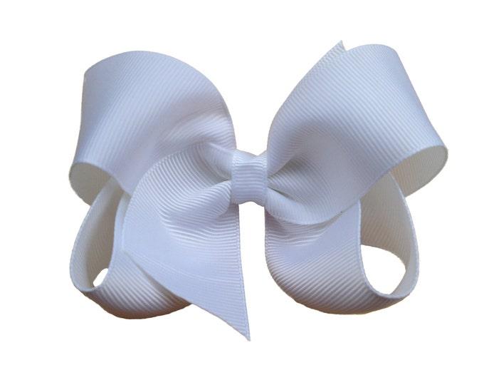 White hair bow - white bows, hair bows, boutique bows, girls hair bows, toddler bows, girls bows, hair bow, bows, hair bows for girls, bow