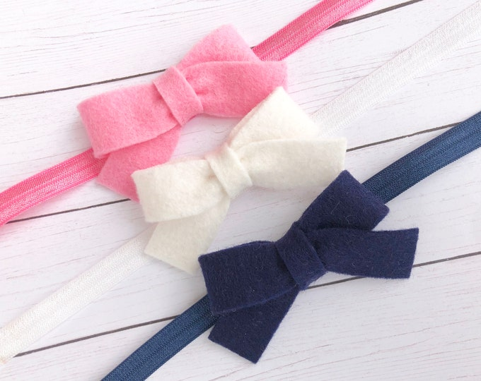 Baby headbands -  baby headband set, bow headbands, baby headband bows, newborn headband, baby bow headband, baby girl headband, baby bows