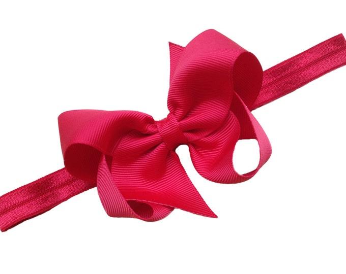 Red baby headband - baby headband bows, baby girl headbands, newborn headbands, baby bows, headbands baby
