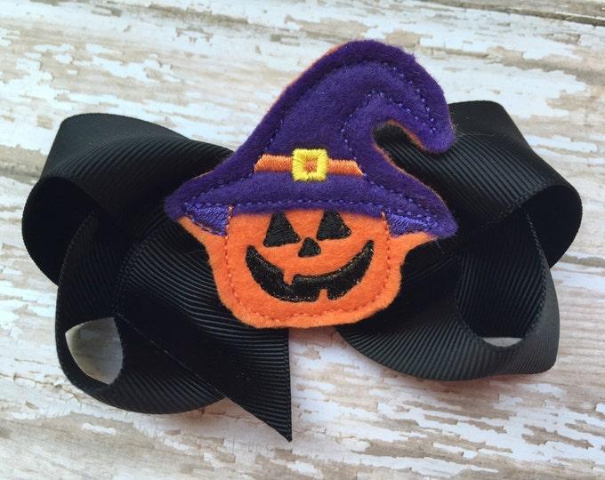 Halloween hair bow - halloween bows, hair bows, 4 inch bows, boutique bows, hair bows for girls, girls bows, toddler hair bows, hairbows