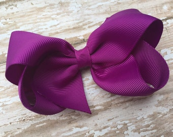 Ultraviolet hair bow - hair bows, girls bows, toddler hair bows, baby bows, boutique bows, 4 inch hair bows