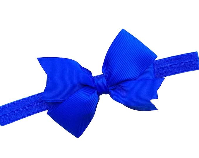 Royal blue baby headband - baby girl headband, baby headband bows, newborn headband, baby bows, baby bow headband