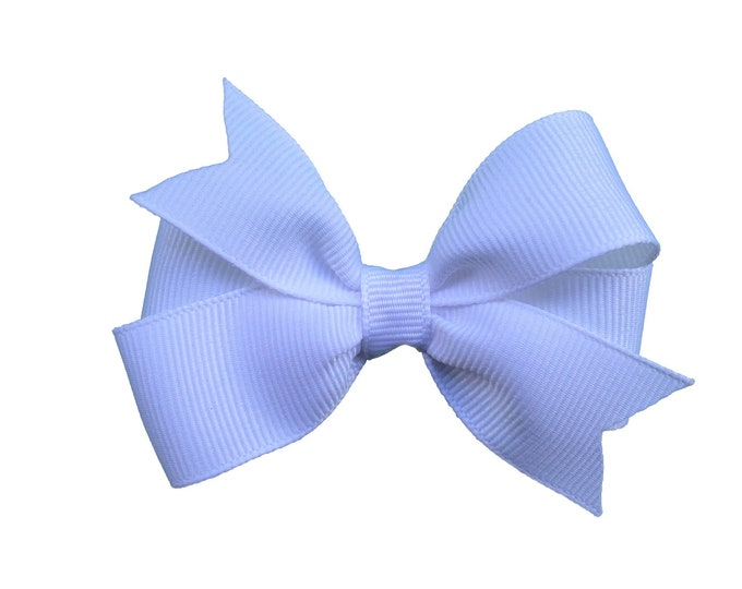 White hair bow - hair bows, white bows, baby bows, bows for girls, pigtail bows, toddler hair bows