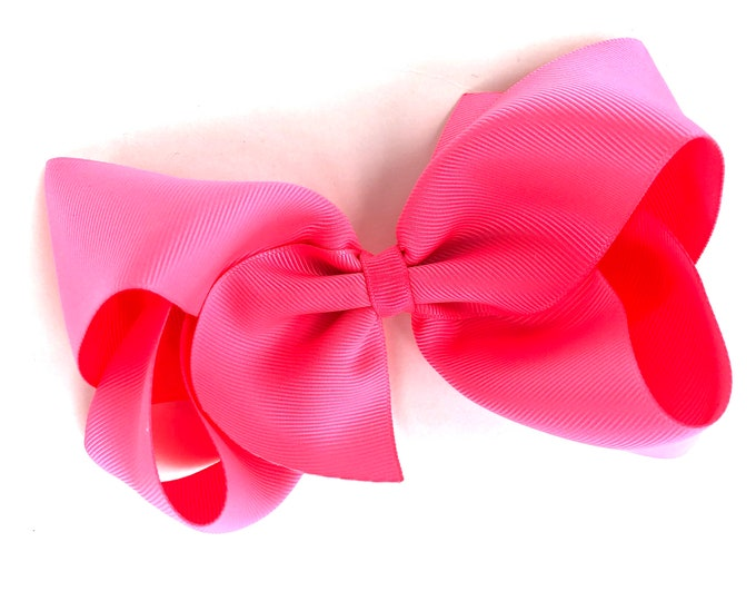 Extra large hair bow - 6 inch hair bows, passion fruit hair bow, cheer bows, big hair bows, girls hair bows