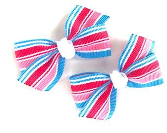 Pigtail bows - hair bows, hair clips, bows, baby bows, girls bows, toddler hair bows